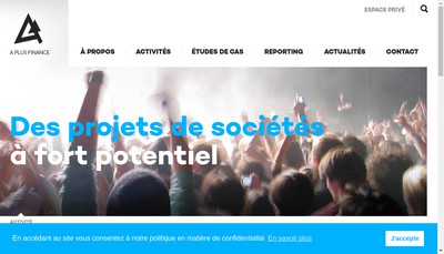 Site internet de A Plus Finance