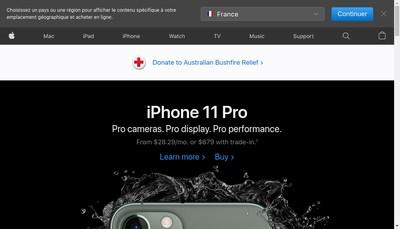 Site internet de Apple