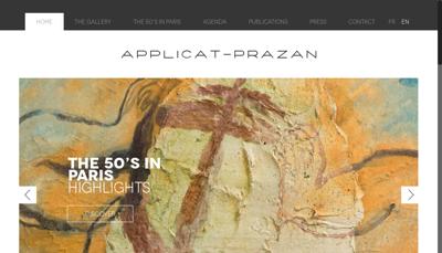 Capture d'écran du site de Applicat