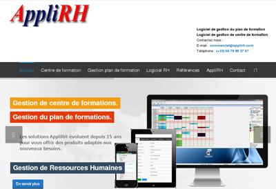 Capture d'écran du site de Appli Rh