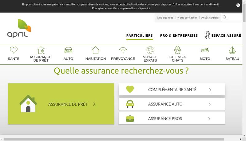 Capture d'écran du site de APRIL
