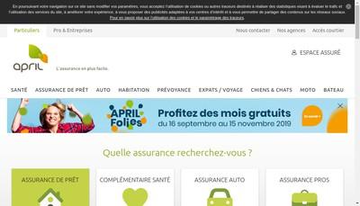 Site internet de April et Groupe April