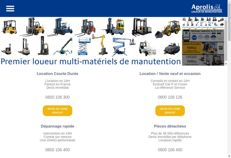 Capture d'écran du site de Aprolis Finance