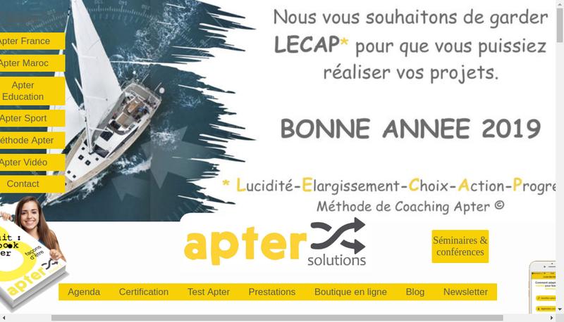 Capture d'écran du site de Apter France