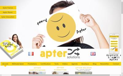 Site internet de Apter France