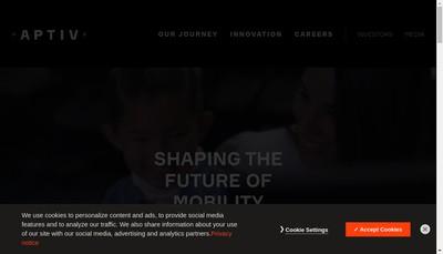 Site internet de Aptiv Services 2 France SAS