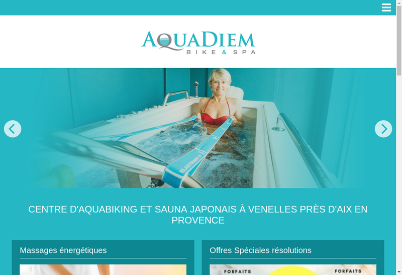 Capture d'écran du site de Aquadiem