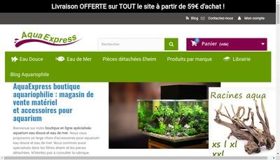 Site internet de Aquaexpress