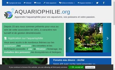 Site internet de Association Aquariophilie Org