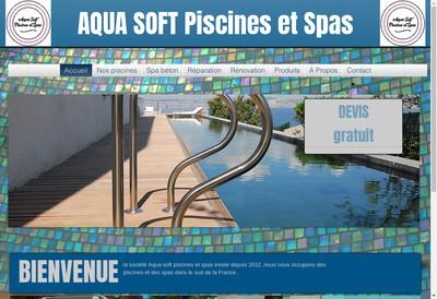 Site internet de Aqua Soft Piscines & Spas