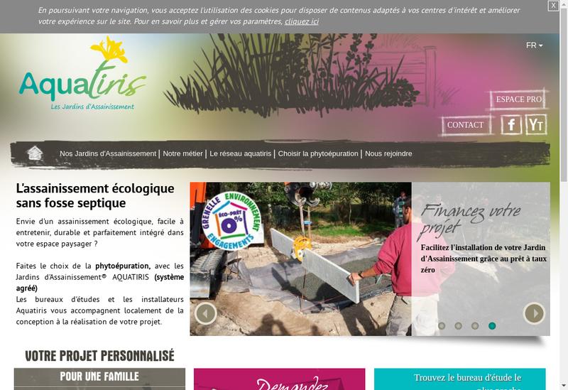 Capture d'écran du site de Aquatiris