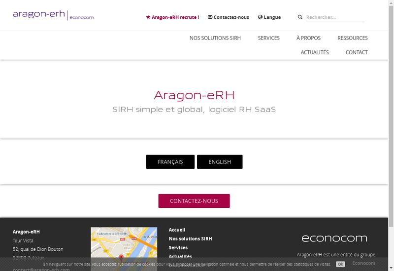 Capture d'écran du site de Aragon Erh