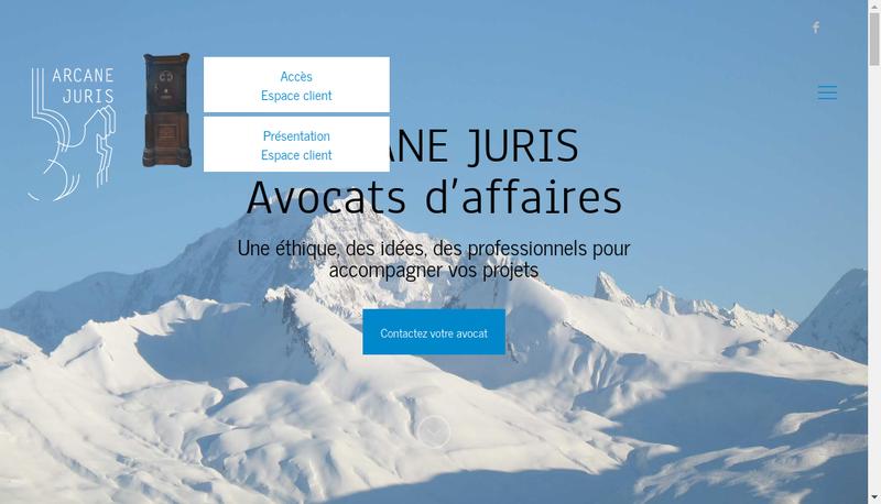 Capture d'écran du site de Arcane Juris