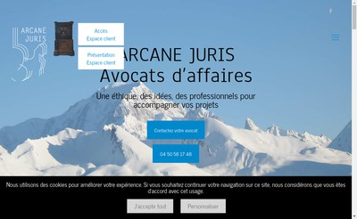 Site internet de Arcane Juris