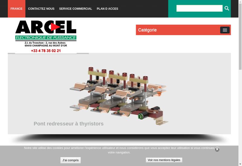Capture d'écran du site de Arcel
