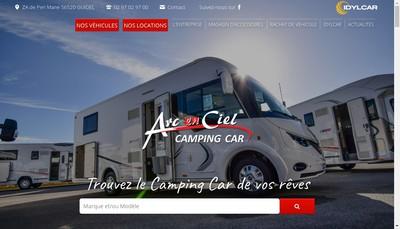 Site internet de Arc en Ciel Camping Cars