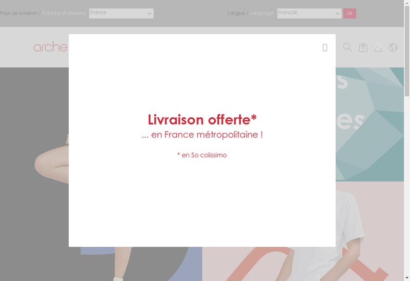 Capture d'écran du site de Arche Shoes