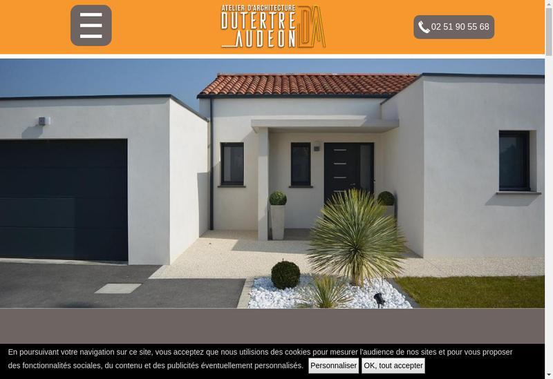 Capture d'écran du site de Patrice Audeon