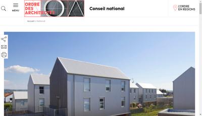 Capture d'écran du site de DS Architectes