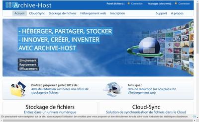 Site internet de Archive-Host