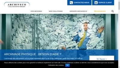 Site internet de Archiveco