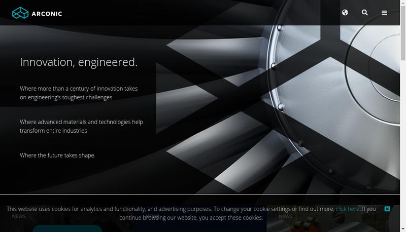 Capture d'écran du site de Arconic Architectural Products SAS
