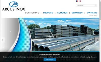 Site internet de Arcus Inox