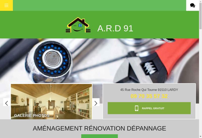 Capture d'écran du site de Amenagement Renovation Depannage
