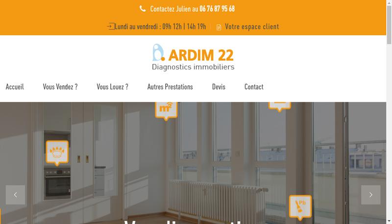 Capture d'écran du site de Ardim 22