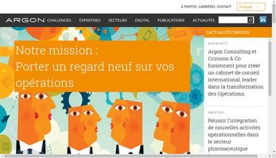 Site internet de Argon Consulting