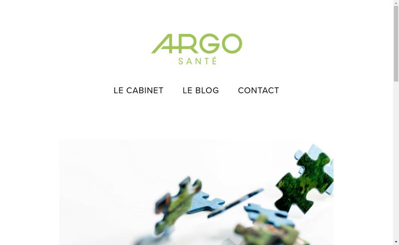 Capture d'écran du site de Argo Sante