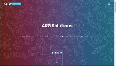 Site internet de Arg Solutions
