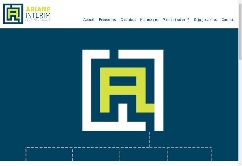 Capture d'écran du site de Ariane Interim