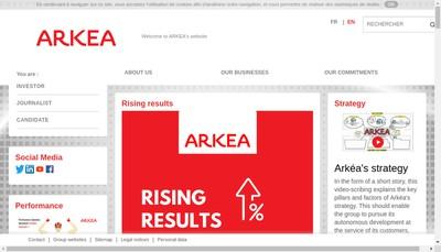 Site internet de Arkea Scd