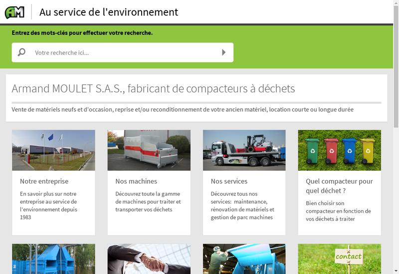 Capture d'écran du site de Armand Moulet SA