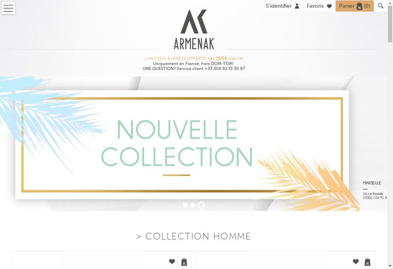 Capture d'écran du site de Armenak