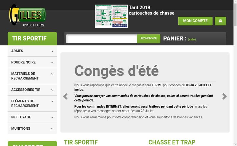 Capture d'écran du site de SARL Gilles