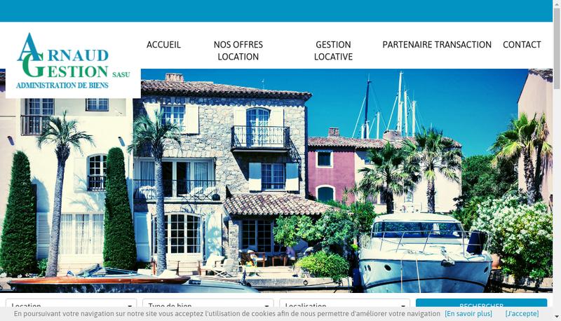 Capture d'écran du site de Arnaud Gestion