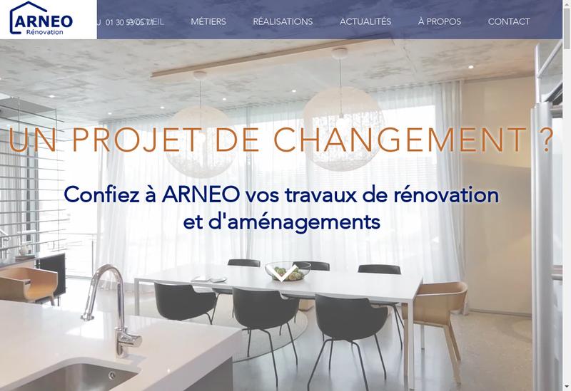 Capture d'écran du site de Arneo
