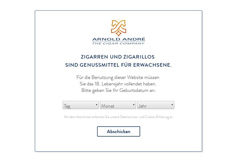 Capture d'écran du site de Arnold Andre