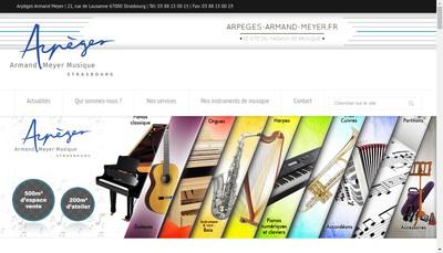 Site internet de Scenia Arpeges-Armand-Meyer Pianos