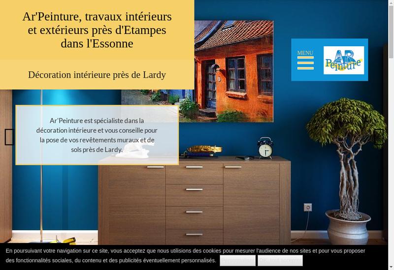 Capture d'écran du site de Ar Peinture