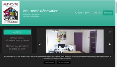 Site internet de Art'Home Renovation