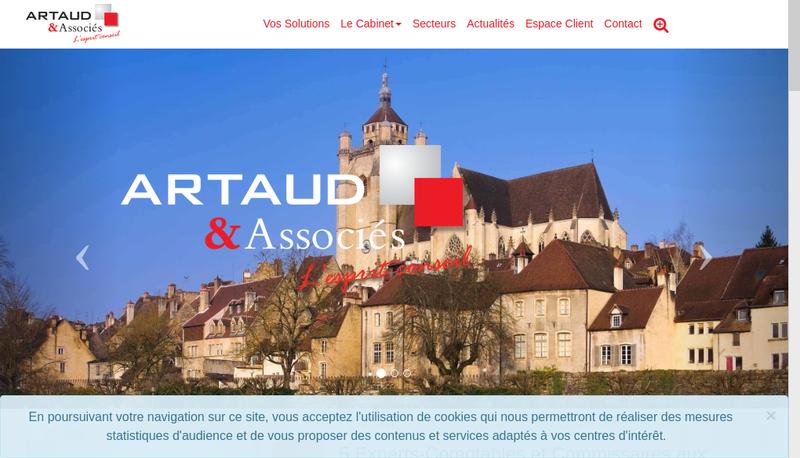 Capture d'écran du site de Cabinet Alain Artaud & Associes