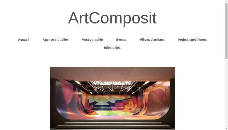 Capture d'écran du site de Art Composit