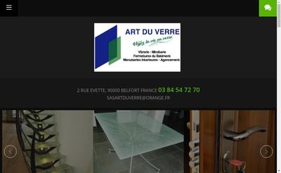 Site internet de Art du Verre