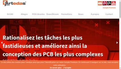 Site internet de Artedas France