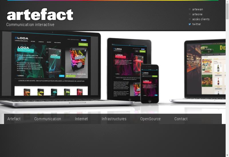 Capture d'écran du site de Tressol Chabrier Brive