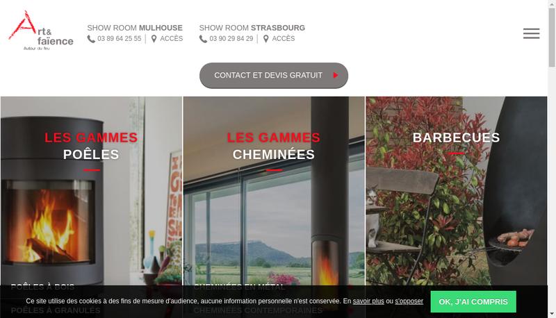Capture d'écran du site de Art et Faience