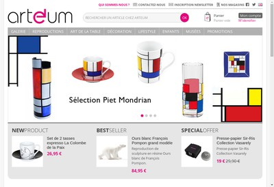 Site internet de Arteum